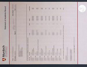 Murdoch University transcript 默多克大学成绩单