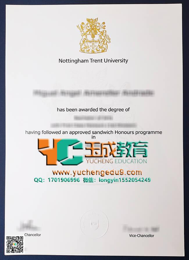 Nottingham Trent University degree 诺丁汉特伦特大学NTU学位证书