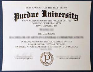 Purdue University degree 普渡大学毕业证