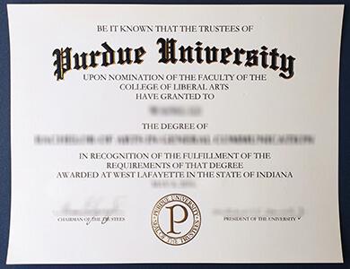 How much to buy a Purdue University degree? 在线购买普渡大学毕业证