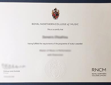 Order Royal Northern College of Music certificate 在线办理皇家北方音乐学院RNCM证书