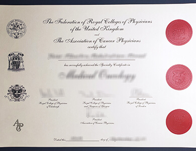 Puechase Federation of the Royal Colleges of Physicians certificate online 办理皇家医师学院联合会证书