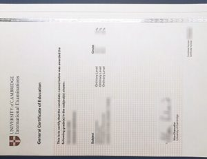 University of Cambridge International Education certificate 剑桥评估国际教育证书