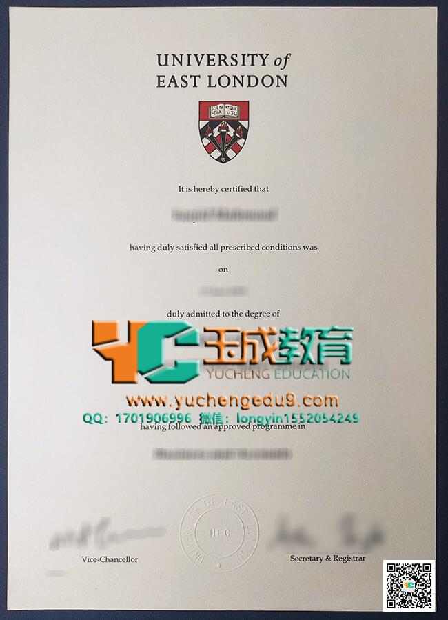 University of East London degree 东伦敦大学UEL毕业证