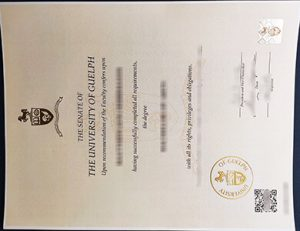 University of Guelph diploma 圭尔夫大学文凭