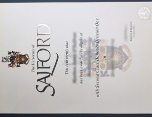 University of Salford degree 索尔福德大学毕业证