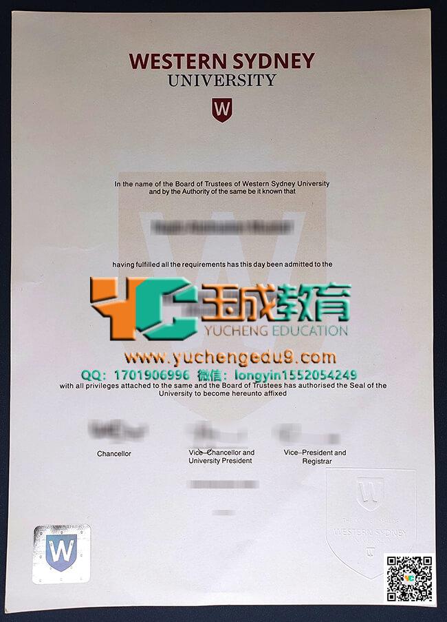 Western Sydney University degree 西悉尼大学学位证
