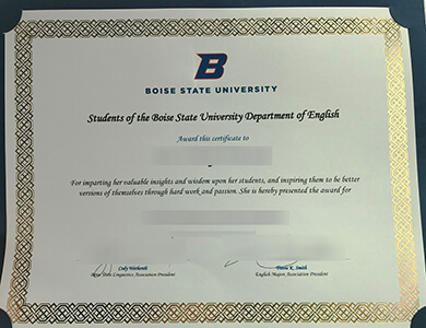 How to buy a Boise State University certificate? 办理博伊西州立大学证书