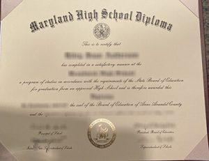 Broadneck High School diploma 布罗德内克高中文凭