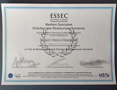Where to buy a fake ESSEC Business School certificate? 办理ESSEC商学院证书