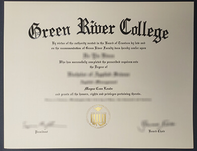 Buy Green River College degree online 在线购买绿河学院毕业证