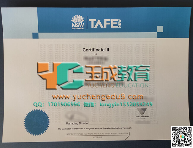TAFE certificate 技术和进修证书