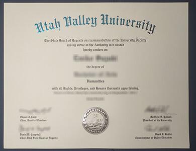 Purchase Utah Valley University degree online 快速办理犹他谷大学UVU毕业证