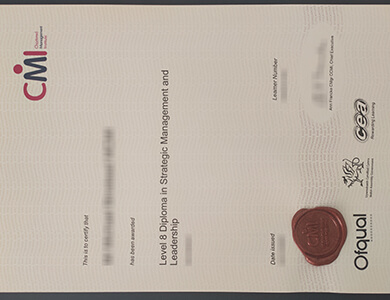 Purchase a fake Chartered Management Institute diploma 购买特许管理学院CMI证书