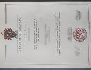 Stellenbosch University certificate 斯泰伦博斯大学证书