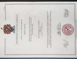 Stellenbosch University degree 斯泰伦博斯大学证书