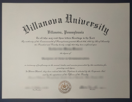 Villanova University degree 维拉诺瓦大学证书
