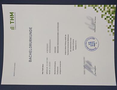 哪里能订制中央黑森应用科学大学证书? Where to purchase a phony Technische Hochschule Mittelhessen (THM) certificate?