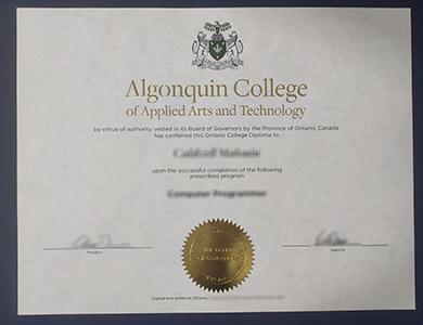 办理阿冈昆应用艺术与技术学院文凭  How to buy a fake Algonquin College of Applied Arts and Technology diploma?