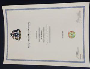 利物浦约翰摩尔斯大学毕业证 Liverpool John Moores University certificate (LJMU)