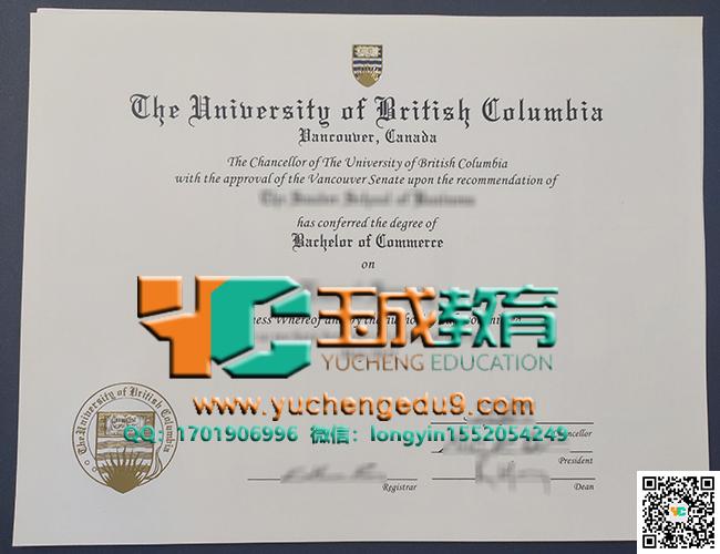 不列颠哥伦比亚大学(UBC)商业学士学位 University of British Columbia (UBC) Bachelor of Commerce degree