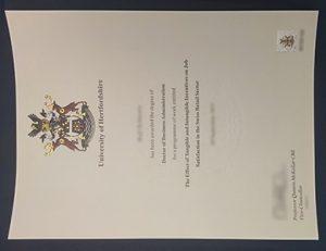 赫特福德大学(UOH)工商管理博士学位 University of Hertfordshire degree of Doctor of Business Administration