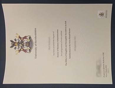 购买赫特福德大学(UOH)工商管理博士学位 How to buy a fake University of Hertfordshire degree of Doctor of Business Administration?
