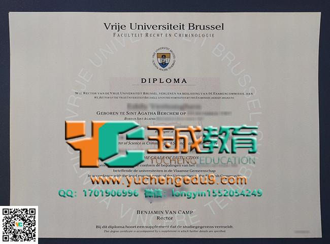 犯罪学理学硕士学位 Vrije Universiteit Brussel (VUB) degree of Master of Science in de criminologie
