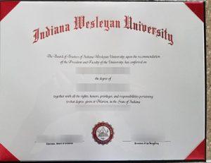 印第安纳卫斯理大学毕业证 Indiana Wesleyan University degree