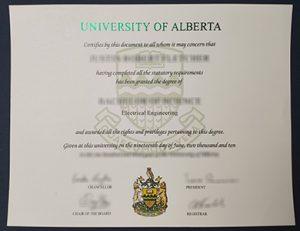 University of Alberta degree 阿尔伯塔大学毕业证
