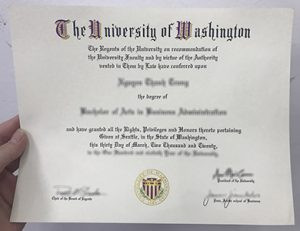 华盛顿大学毕业证 University of Washington degree
