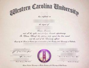 西卡罗来纳大学毕业证 Western Carolina University (WCU) degree