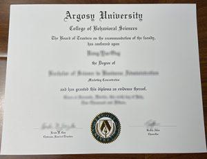 阿戈西大学毕业证 Argosy University degree