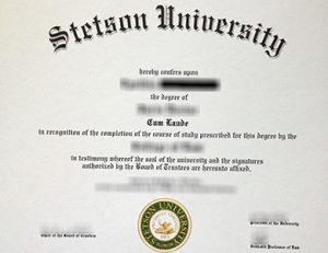 斯泰森大学毕业证 Stetson University degree